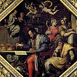 Cosimo I de Medici planning the conquest of Siena in 1555