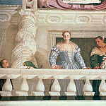 Villa Barbaro. Lady and Nurse on the Balcony, Veronese (Paolo Cagliari)