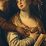Saint Catherine with an angel , Veronese (Paolo Cagliari)