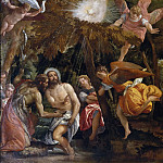 Andrea Mantegna - Baptism and Temptation of Christ