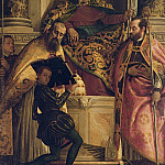 Veronese (Paolo Cagliari) - St. Anthony Abbot with St. Cornelius, St. Cyprian and a Page