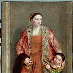 Portrait of Countess Livia da Porto Thiene and her Daughter, Portia, Veronese (Paolo Cagliari)
