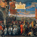 Doge Andrea Contarinis Return to Venice after the Victory over the Genovese at the Battle, Veronese (Paolo Cagliari)