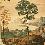 Landscape, detail of the frescoes in the Olympic Room, Veronese (Paolo Cagliari)