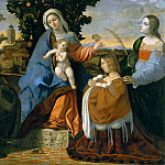 Madonna and Child with Saint Barbara, Saint Justina, and Two Donors