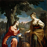 Gentile da Fabriano - Christ and the Samaritan Woman at the Well (Attr)