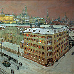 Heinrich Vogeler - Moscow at night