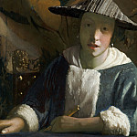 Johannes Vermeer - Girl with a Flute [attr.]