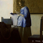 Johannes Vermeer - Woman in Blue Reading a Letter