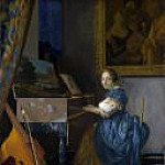 Johannes Vermeer - A Young Woman seated at a Virginal