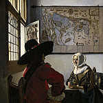 Johannes Vermeer - Officer and Laughing Girl