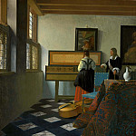 Johannes Vermeer - The music lesson