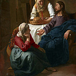 Johannes Vermeer - Christ in the house of Martha and Maria