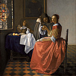 The girl with wineglass, Johannes Vermeer