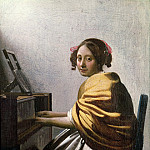 Johannes Vermeer - Young Woman at a Virginal