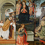 Benozzo Gozzoli - The Mass of Saint Gregory, The Virgin Gives the Girdle to Saint Thomas, Saint Jerome Penitent