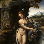 Leonardo da Vinci - Leda and the Swan (Francesco Melzi)