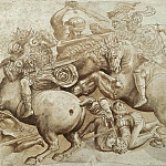 The Battle of Anghiari, detail, Leonardo da Vinci