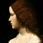 Leonardo da Vinci - Portrait of a Young Lady (Follower of Leonardo da Vinci)