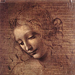 Female head, Leonardo da Vinci