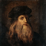 Anonymous Artist 17c Presumed Portrait of Leonardo da Vinci, Leonardo da Vinci