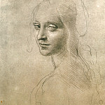 Leonardo da Vinci - Face of the Angel for the Virgin of the Rocks