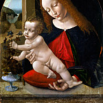 Leonardo da Vinci - Madonna and Child [Workshop]