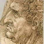 Head of a Man in Profile, Leonardo da Vinci