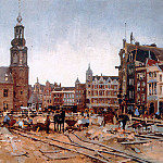 Cornelis Vreedenburgh - Vreedenburgh Cornelis Work In Progress On Muntplein In Amste
