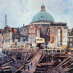 Cornelis Vreedenburgh - Vreedenburgh Cornelis Building Well With Church Amsterdam S