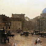 Cornelis Vreedenburgh - Vreedenburgh Cornelis Bridge over the Singel Sun