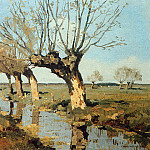 Cornelis Vreedenburgh - Vreedenburgh Cornelis Pollard Willow At The Side Of The Broo