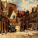 Cornelis Vreedenburgh - Vreedenburgh_Cornelis_A_Townscene_With_Children_At_Play_Haarlem