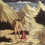 Domenico Veneziano - St. John in the Desert, 1445, wood, The N