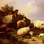 Eugene Joseph Verboeckhoven - Verboeckhoven_Eugene_Joseph_Guarding_The_Flock_By_The_Coast