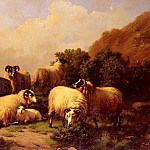 Эжен Жозеф Вербукховен - Verboeckhoven_Eugene_Joseph_Sheep_grazing_By_The_Coast