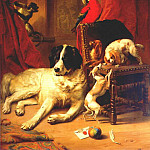 Эжен Жозеф Вербукховен - verboeckhoven_the_favorite_animals_of_king_leopold_i_1845