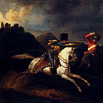 Two Soldiers On Horseback, Horace Vernet