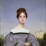 Portrait of Louise Vernet, daughter of the artist, Horace Vernet