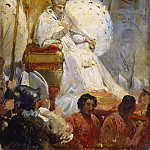 Ceremonial Carrying of Pope Pius VIII into the St Peter Cathedral in 1829, Horace Vernet