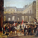 Revolution of 1830, Departure of King Louis-Philippe for the Paris townhall, Horace Vernet
