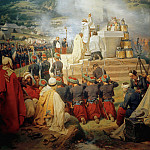 The first mass in Kabylia, Horace Vernet
