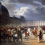 Invalid Handing a Petition to Napoleon at the Parade in the Court of the Tuileries Palace, Horace Vernet