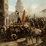 On the barricades on the Rue Soufflot, Paris, 25 June 1848, Horace Vernet
