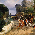 Italian Brigands Surprised by Papal Troops, Horace Vernet