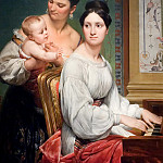 Portrait of the Marchesa Cunegonda Misciattelli with Her Infant Son and His Nurse, Horace Vernet