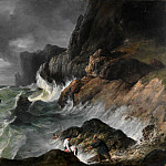 Stormy Coast Scene after a Shipwreck, Horace Vernet