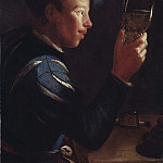 Robert Levrac-Tournières - Young Man with a Glass Goblet [Attributed]