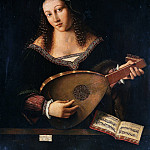 Horace Vernet - Woman playing a lute