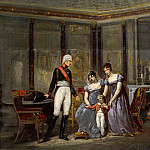 The Empress Josephine presenting her daughter, Hortense and grandson, Louis-Napoleon, Louis Apol